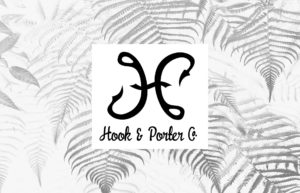 Hook And Porter Company Brand Home Page Fern Logo Background