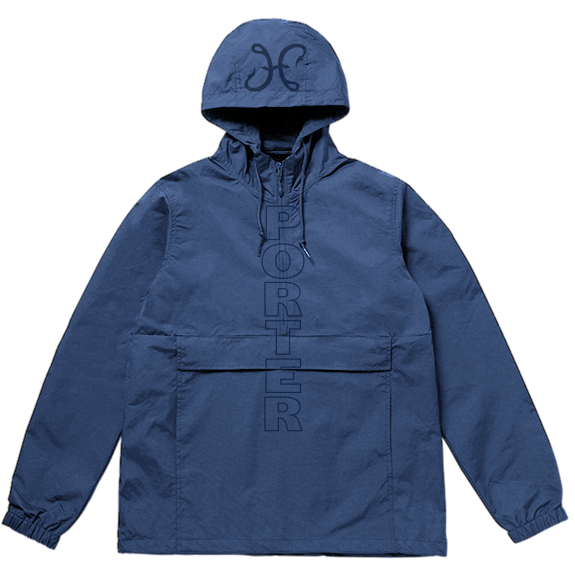 Hook And Porter Porter Dash Anorak Pullover Jacket Navy