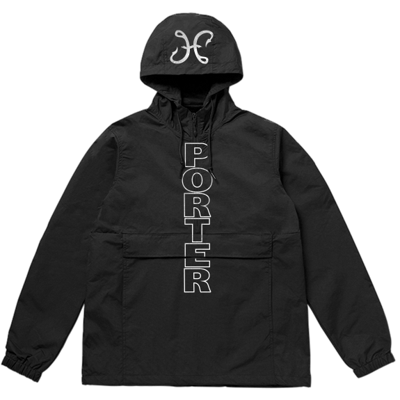 Hook And Porter Porter Dash Anorak Pullover Jacket Black