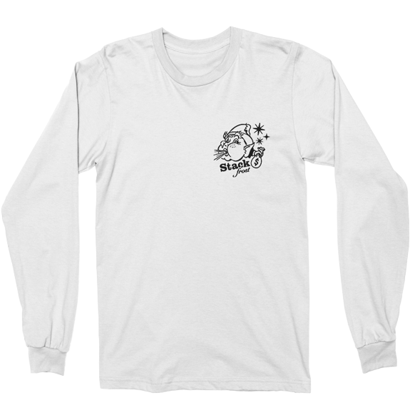 Hook And Porter Stack Frost Long Sleeve Tee White